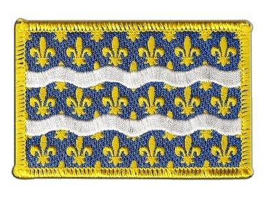 Aufnäher Patch Flagge Frankreich Seine-et-Marne - 8 x 6 cm