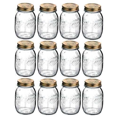 Bormioli Rocco Quattro Stagioni 23.5 Ounce Glass Jar, Set of 12