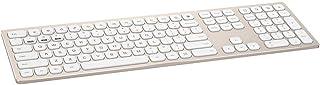 109 Keys Aluminum Alloy Case Wireless Keyboard Multimedia Mute Keyboard with Wooden Holder Keyboard Protective Film Receiv...