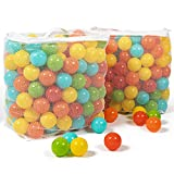 Milliard Ball Pit Balls – Pack of 400 / 5 Bright Colors in 2 Mesh Storage Bags / Plastic Balls for Ball Pit