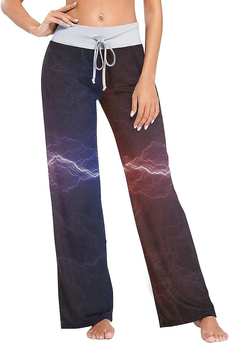 Fire Ice Lightning Pajama Pants Sleep Wholesale Trousers Stretch Leg Max 51% OFF Wide