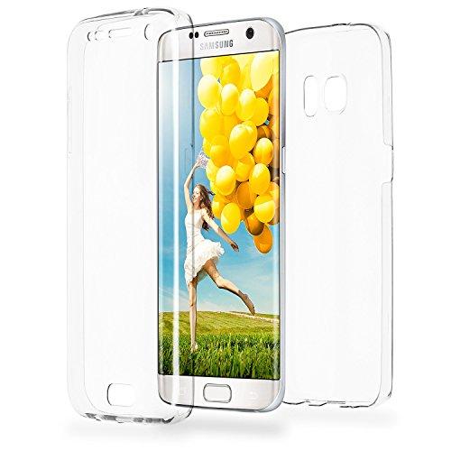 MoEx® Double Case kompatibel mit Samsung Galaxy S7 Edge Hülle Silikon Transparent | Beidseitige Handyhülle mit 360 Grad Komplett Rundum-Schutz, Transparent