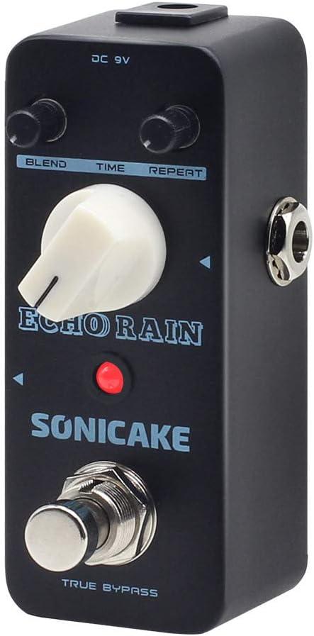 SONICAKE Echo Rain Analog-Style Hybrid Digital Delay Guitar Effects Pedal