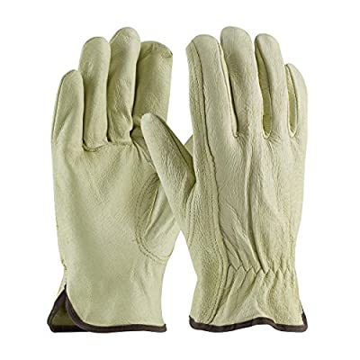 Pig Skin Leather Work Driver Gloves Softer Compared to Cowhide