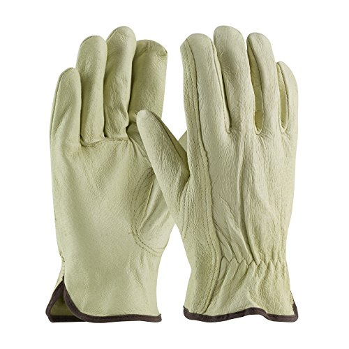 3 Pack PIP Top Grain Cowhide Leather Work Glove - Keystone Thumb, Sizes S-XL (Large)