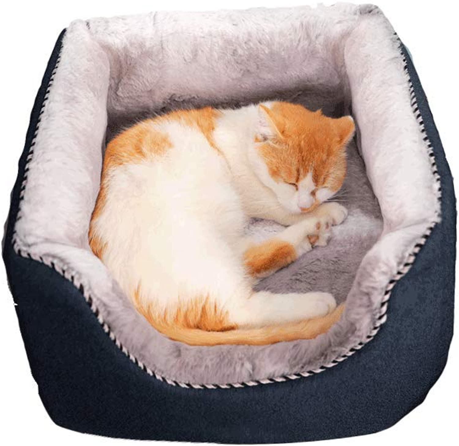 JXLBB Pet Cat Cat Litter Teddy Method Small Dog Kennel Dog Mattress Cat House Nest Pad Dualuse Warm In Winter And Cool In Summer, Suitable For All Seasons (Size   L)