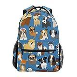 Wamika Funny Cartoon Dog Paw Backpack Bookbags Daypack School Supplies for Students Girls Boys,Cute Puppy Animal Flowers Laptop Bookbag Shoulder Bag Travel Sports for Men Women