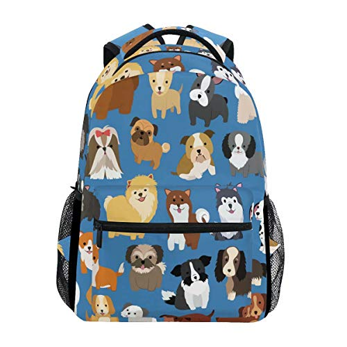 Wamika Funny Cartoon Dog Paw Backpack Bookbags Daypack School Supplies for Students Girls Boys,Cute Puppy Animal Flowers Laptop Bookbag Shoulder Bag Travel Sports for Men Women