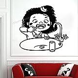 DOUMAISHOP Etiqueta De La Pared De La Clínica Dental Etiqueta De La Pared De La Clínica Dental Decoración De La Pared De La Clínica Dental Calcomanía De Vinilo Impermeable Decoración del Baño C834