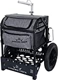 Dynamic Discs Transit Cart by ZUCA   Disc Golf Caddy  Carry up to 25 Discs Comfortably   Removable Bag Included (Navigator Charcoal)