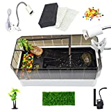 Large Turtle Tank Starter kit Includes Accessories with UVA/UVB...