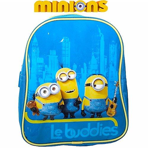 Minions Gru - mochila infantil pequeña - Imagen: Kevin, Bob + Stuart - 25 x 22 x 10 cm