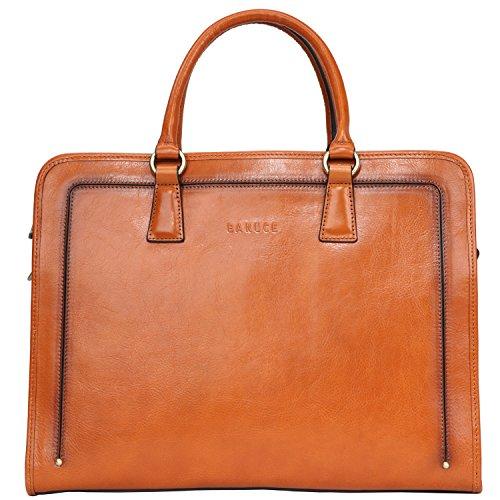 Banuce Full Grains Italian Leather Briefcase for Women Handbags 14 Inch Laptop Business Bags Attache Case Satchel Purse Ladies Work Bag