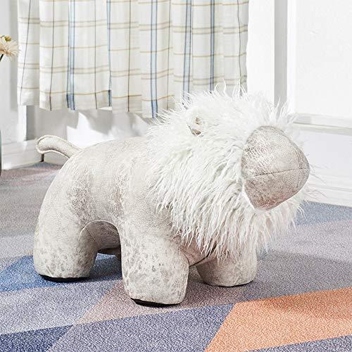 ENAL1 Diseño contemporáneo de animal doméstico encantador del taburete creativo Lion banco de calzado infantil Silla de Animales de dibujos animados otomanos Decoración piso heces del niño de