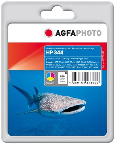 AgfaPhoto Tintenpatrone mehrfarbig kompatibel zu HP344 (C9363EE) geeignet für HP Deskjet 5740/6520/6540