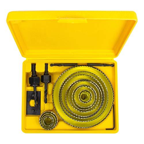 CUTTEX TOOLS Hole Saw Kit, 21 Pcs Full Set Hole Saw Kit, Sharpened Teeth, 3/4