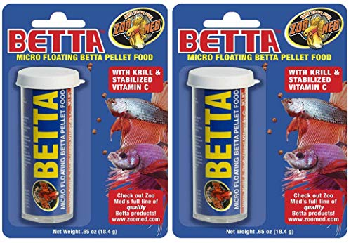 coralreef aqua Gene Eleven Betta Diet Aquarium Tank Tropical Fish Small Food (Pack of 2, 15 g)
