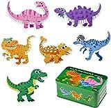 Comius Sharp Puzzle de Madera, 6 Pack Rompecabezas Puzzle Juguetes Bebes para Niños de 1 2 3 4 5 Años Montessori Educativos Regalos 3D Patrón Puzles con Caja de Rompecabezas de Metal (Dinosaur)