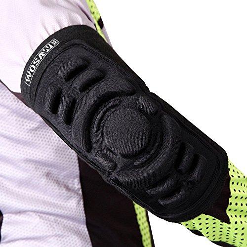 WOSAWE Best Elastic Combat Hockey Ellenbogenschoner Protector Bandage Ellenbogen Pad Sleeve Guard, Herren, Elbow Pads - 1 Piece