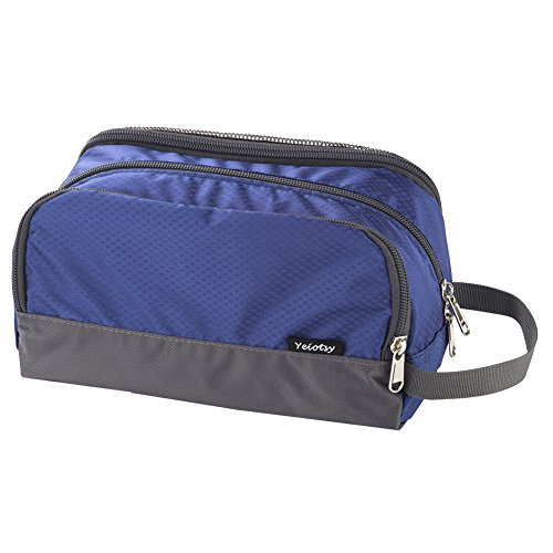Travel Toiletry Bag Small, Yeiotsy Light Dopp Kit Bag Shaving Bag Toiletry Organizer Blue (Sapphire)