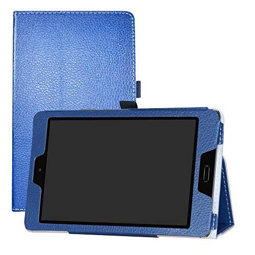 LFDZ Huawei MediaPad M3 Lite 8.0 Hülle, Schutzhülle mit Hochwertiges PU Leder Tasche Hülle für Huawei MediaPad M3 Lite 8.0 Tablet,Blau
