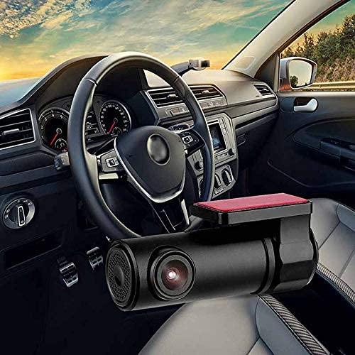 CáMara de Coche CáMara Trasera CáMara de Tablero,Mini HD Car Dash CAM 170 ° Dash CAM Wi-Fi Car DVR Dash CAM CáMara Trasera Video Recorder App,DeteccióN de Movimiento,GrabacióN En Bucle