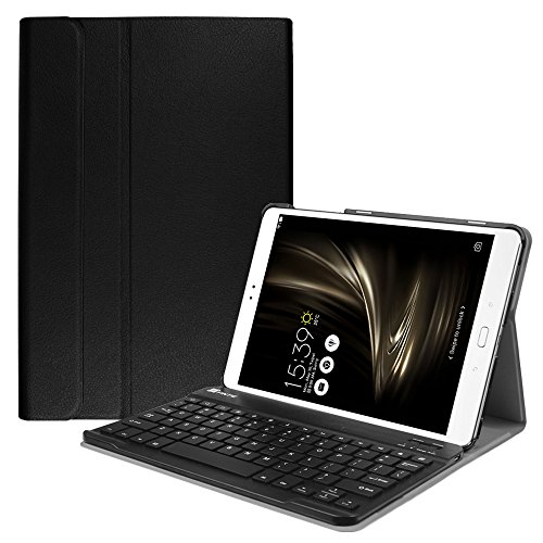 Fintie Keyboard Case for ASUS ZenPad 3S 10 Z500M - SlimShell Lightweight Stand Cover w/Magnetically Detachable Wireless Bluetooth Keyboard (NOT FIT Model Z500KL), Black