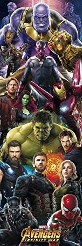 Grupo Erik Editores ppge8048–Avengers Poster INFINITY war Marvel Thanos,  53 x 158 cm