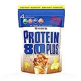 WEIDER Protein 80 Plus Eiweißpulver, Toffee-Karamell, Low-Carb, Mehrkomponenten Casein Whey Mix für Proteinshakes, 500g