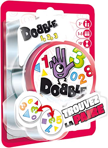 Asmodee- Dobble 123 Blister, Color jeu d'ambiance (DOCF02FR)