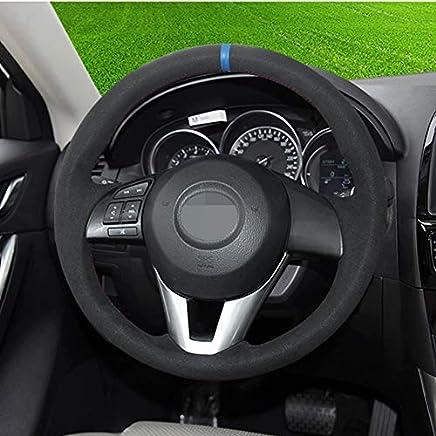 FANGPAN Cubierta de Cuero para Volante, para Mazda 3, para Mazda 5, para