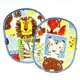 Knieflicken Tiere Hosenflicken Löwen Tiger Affen 10 x 8cm Flicken zum aufbügeln 2 Aufbügler für Kinder Bügelflicken Zoo bunte Patches Bügelbilder, Applikation und Aufnäher