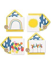 بطاقات بردي فارغة مع مظاريف ، صندوق صغير من هابي (20 قطعة)