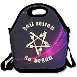Bolsa De Almuerzo Black Hail Seitan Go Vegan Lunch Bags Hombre Mujer