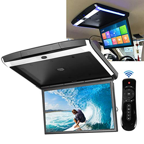 Monitor abatible Techo Montaje en techo Bluetooth TV WIFI HDMI USB SD MP5 Altavoz Pantalla capacitiva Ips de 17.3in