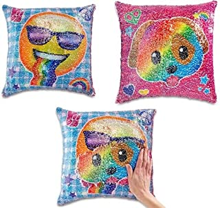 Top Trenz Inc Reversible Sequin Mermaid Pillows (Dog/Sunglasses)