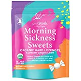 Pink Stork Morning Sickness Sweets: Ginger Raspberry Morning Sickness Candy for Pregnancy, Nausea, Digestion, 100% Organic + Vitamin B6, Women-Owned, 30 Hard Lozenges