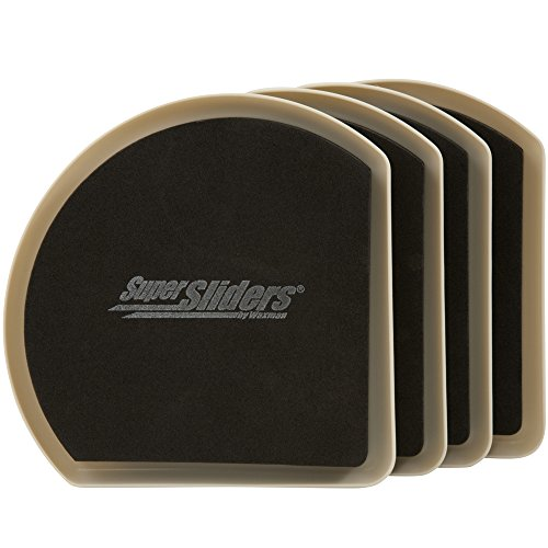 Patins en feutre réutilisables pour déplacer les meubles sur sols durs (4 pièces) – 12,7 cm Supersliders, 4734295N