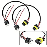9006 To H4 Conversion Wires Adapters Headlight Retrofit or HID Kit Installation