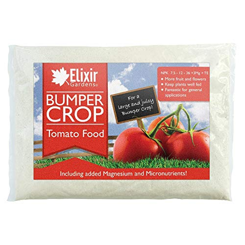 Elixir Gardens  Bumper Crop Tomato Food 7.5-12-36 +TE+ Cao Fertilizer | 500g - 25Kg | Supplied in a Bag or Resealable Tub