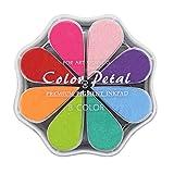 Almohadillas de Tinta para Sellos, 8 Colores Tintas Arbol Huellas, Lavable, Pétalo Color del Arco Iris, para Manualidades, Hacer Tarjetas, Sellos de Goma Socio y Niños DIY Scrapbooking (1015)
