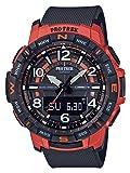 Casio Protrek Mens Black & Orange Quad Sensor Smartphone Link Watch PRT-B50-4