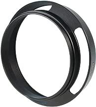 CamDesign 52mm Pro Angle Vented Metal Lens Hood Sun Shade Compatible with Leica/Contax Zeiss/Voigtlander/Panasonic Lumix/Fujifilm/Olympus/Nikon/Canon/Sony/Pentax/Samsung/Sigma Cameras w/ 55mm lens cap