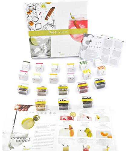 Gin & Tonic Spice Gift Set van Te Tonic- met 24 theezakjes en 8 Botanicals. Proef het aroma van specerijen, kruiden en bloemen in je cocktail