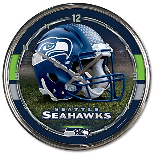 Product Name: SEATTLE SEAHAWKS NFL CHROME ROUND CLOCK by WinCraft