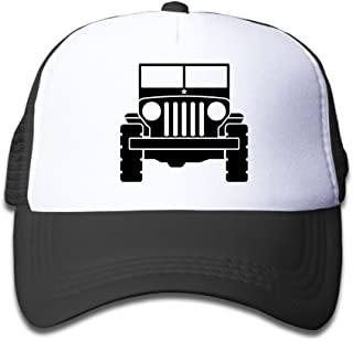 Jeep 1 Sun Mesh Baseball Cap Kids Protection Hat Unisex (One Size, Black)