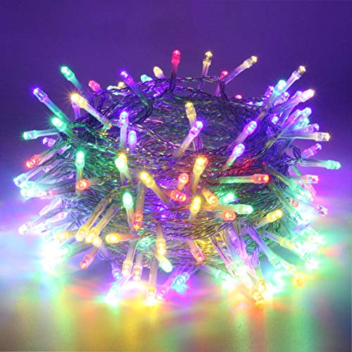 Multicolor Extra-Long 82FT String Lights Outdoor/Indoor, 200 LED Upgraded Super Bright Christmas Lights, Waterproof 8 Modes Fairy Lights for Christmas Tree Garden Patio Party Wedding (Multicolor)