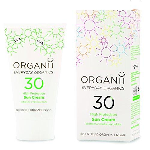 Organii G11105 - Crema Solar SPF30, Natural Orgánica, Prote