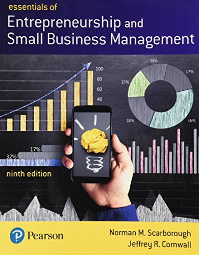 Compare Textbook Prices for Essentials of Entrepreneurship and Small Business Management What's New in Management 9 Edition ISBN 9780134741086 by Scarborough, Norman,Cornwall, Jeffrey