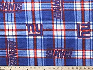 Country Snuggles New York Giants Patch Fleece Fabric by The Yard (Quarter Yard)